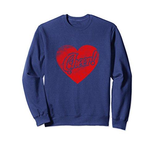 Unisex Love Heart Cheerleading Sweatshirt Cheerleader Costume XL: Navy