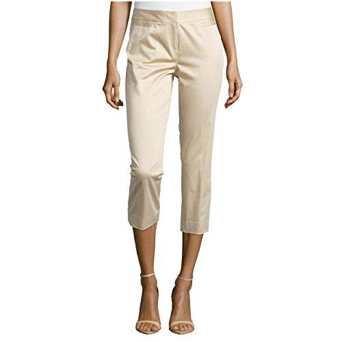 Lafayette 148 New York Polished Cropped Pants, Stone, US 2 ()