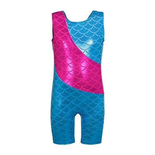UPC 606825593088, Colorful Ribbons Rainbow Mermaid Leotard Gymnastics Biketard for Little Girl,4-5 years/110