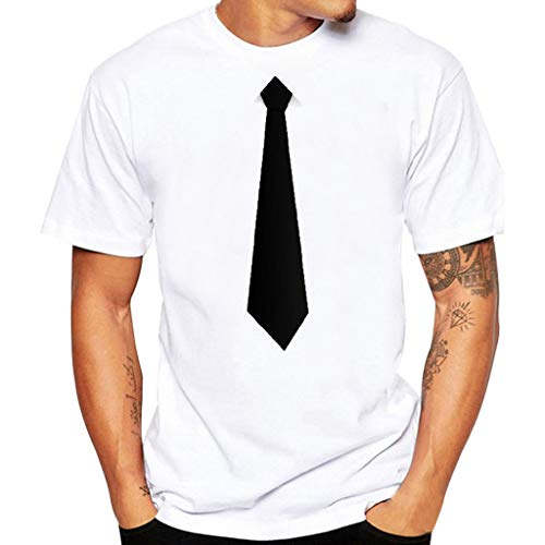 Clothing Geoffrey Beene Women (Fashuion!! SFE Men Summer Shirts,Men's Fashionable T-Shirt with Interesting Tie Suit Blouse Top White)