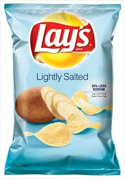 Lightly Salted Chips - Lay's Lightly Salted Potato Chips 9.5 oz (Pack of 6)