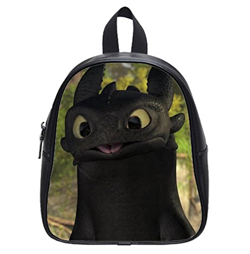 Custom How to Train Your Dragon Toothless Backpack Kid's School Backpack Bag (Small)