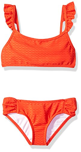 Billabong Big Girls' Makin Shapes Flutter Bikini Swim Set, Poppy, 14 ()