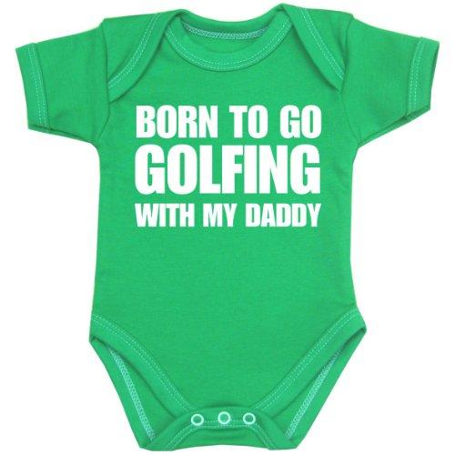 Go Green Infant Onesie - BabyPrem Baby Born to go Golfing with My Daddy Bodysuit Vest One-Piece Green 6-9