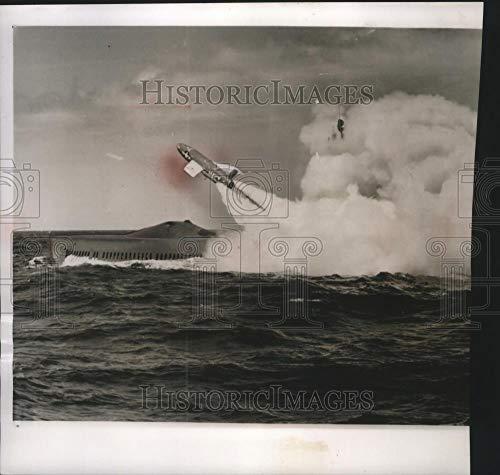1960 Press Photo Regulus I Missile Launches from Submarine Halibut - mjm05085 - Historic Images ()