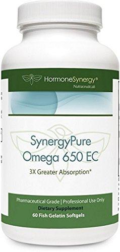 SynergyPure Omega | 650 EC Fish Oil | 60 Enteric Coated Softgels | 3Xs Greater Absorption* | MaxSimil® monoglyceride fish oil