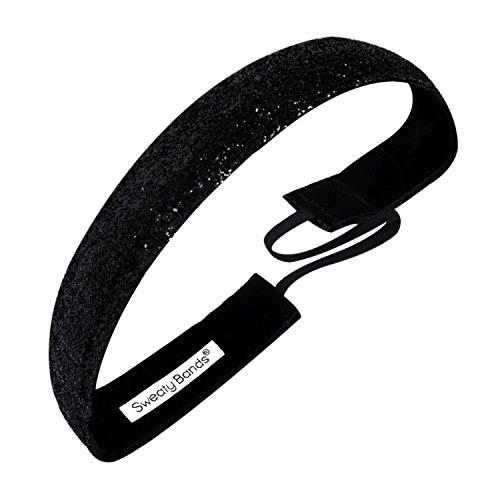 (Sweaty Bands 001-10-0049-12 Viva Diva 1-inch Velvet Lined Fitness and Fashion Headband Black)