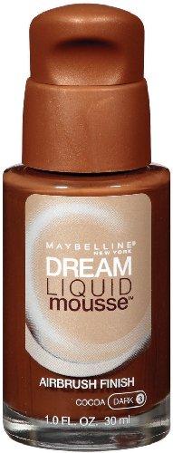 Maybelline Dream Liquid Mousse Foundation de New York, le cacao foncé 3, 1 once liquide