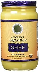 ANCIENT ORGANICS 100% Organic Ghee from Grass-fed Cows, 32oz