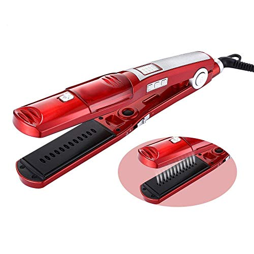 IFANSTYLE Steam Hair Straightener, Flat Iron Hair Straighteners Hair Iron Straightener Ceramic straighteners with Anti-Static Technology and Digital Controls Suitable for All Hair Types