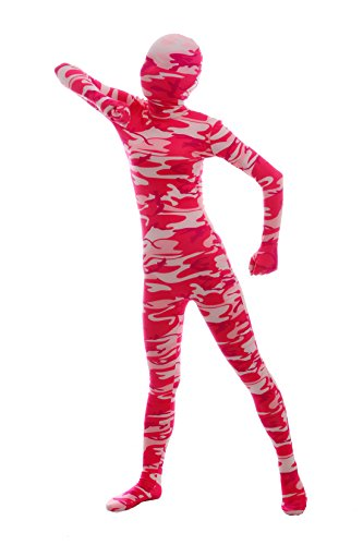 - 412490Mz7GL - Halloween Cosplay Costume Full Printed Red Camouflage Bodysuit Lycra Spandex Zentai