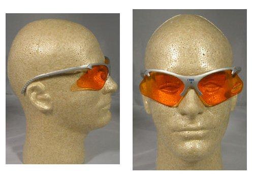 (Jackson 3011689 KC 19835 Safety Glasses Code 4 Platinum Frame Orange Lens, 1 Pair)