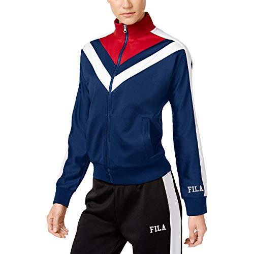 (Fila Women's Faith Track Jacket, Navy/Chinese Red/White, X-Small)