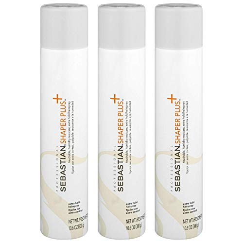 (3 Pack Shaper Plus Extra Hold Humidity Resistance Hairspray 10.6)