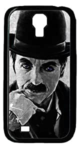 Charlie chaplin Rectangle Personalized Protective Case for Galaxy S4 by LZHCASE