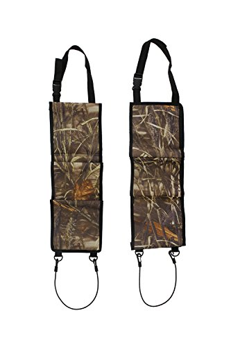 Concealed Seat Back Gun Rack Sling Pair in Camo – Storage Organizer for 3 Hunting Rifles/Shotguns in Car, Truck, - Seat Back Gun Rack
