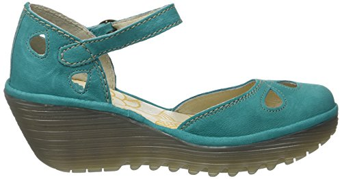 Fly London Yuna, Zapatos de Tacón con Punta Cerrada Para Mujer Verde (Verdigris)