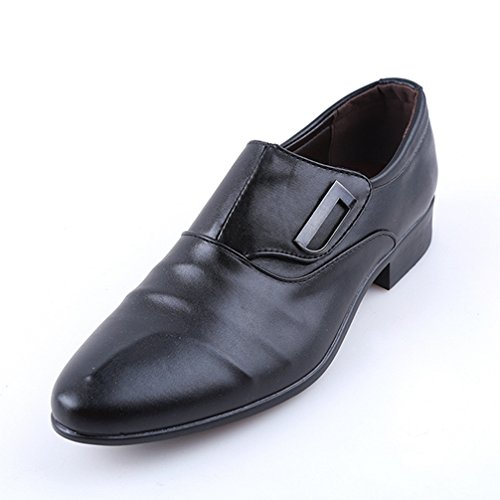 Phil Betty Mens Bussiness Formal Shoes Single Buckle Non-Slip Office Party Dress (Teds Vibe Single)