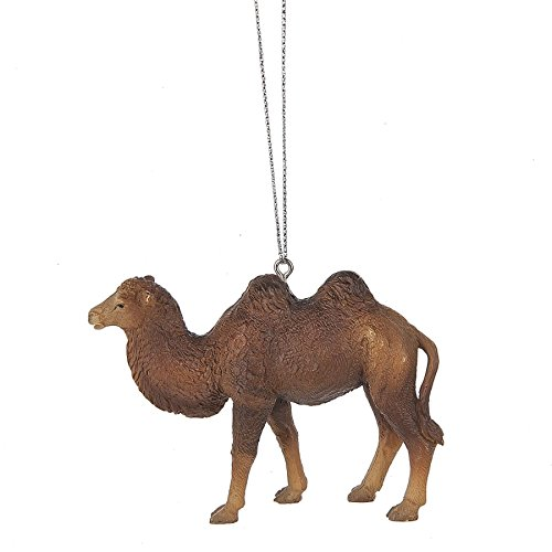 Two Humped Bactrian Camel 3.5 x 2.5 Inch Resin Christmas Ornament Figurine