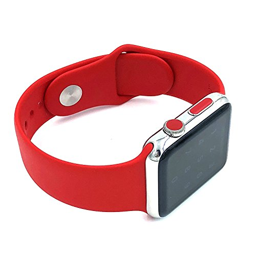 DotCrown Red LTE crown dot sticker vinyl cover, set of 8 dots for all Apple Watch plus x2 matching side buttons