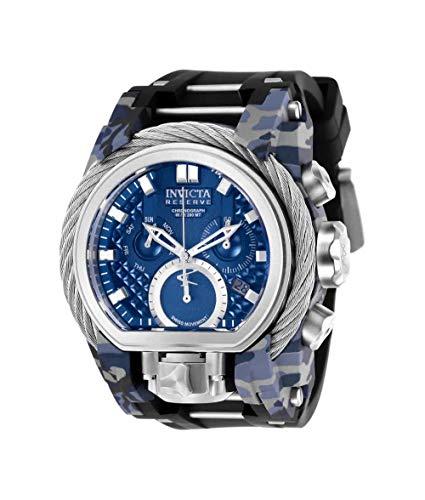 Invicta Men's 26440 Reserve Quartz 3 Hand Blue Dial Watch (Invicta For Aqua Men Watches)