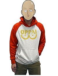 One Punch Man Hoodie Saitama Oppai Sweatshirt Cosplay Costume
