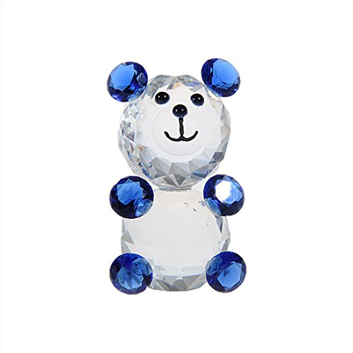 Baby Crystal Bear (H&D Crystal Baby Bear Figurine Collection Animal Paperweight Table Centerpiece)