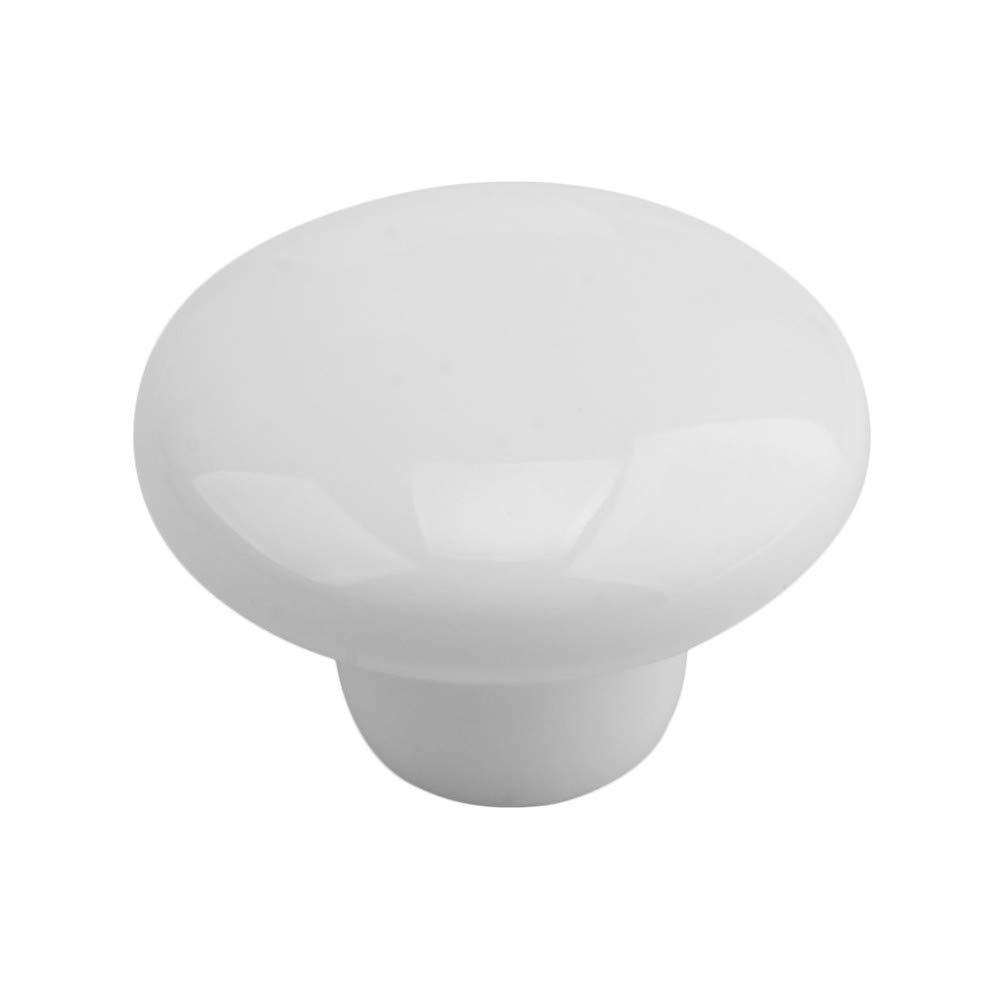 cajones WOMAO modernos individual puertas para muebles Juego de 8 pomos de porcelana sal/ón color blanco puertas forma redonda para casa de campo armarios