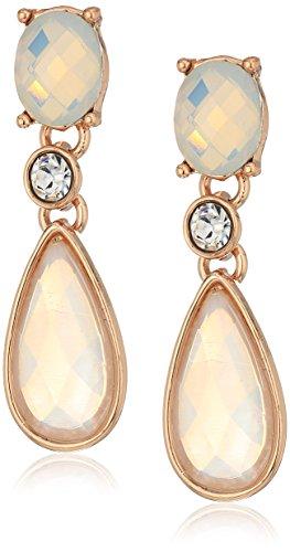 - Anne Klein Rose Gold Tone Post Drop Earrings