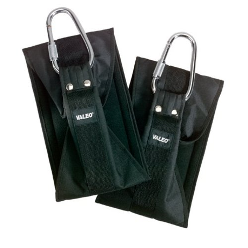 Valeo Heavy Duty Ab Straps With Steel Caribiner Attachments,