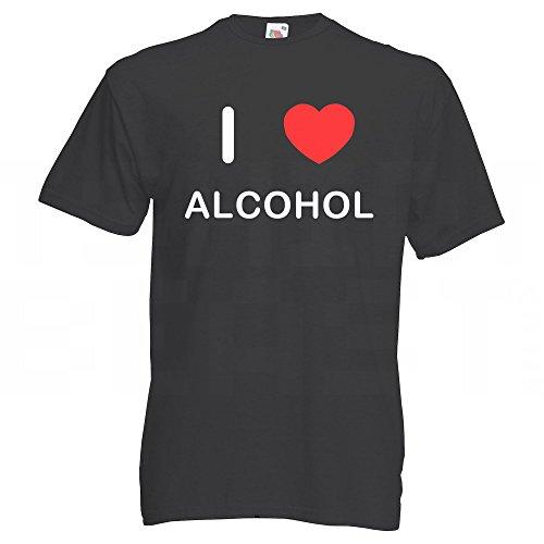 I Love Alcohol - Große Schwarze T-Shirt