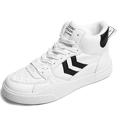 ZHZNVX Zapatos de Mujer PU (Poliuretano) Zapatillas de Deporte Primavera/Verano con tacón Plano, Punta Cerrada, Blanco/Negro / Rojo White