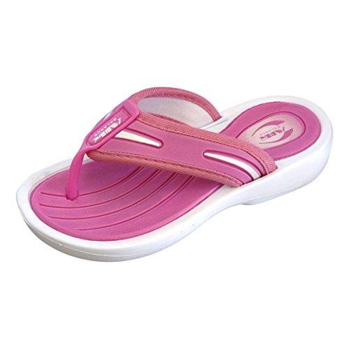 Price comparison product image Air Balance Girl's Casual Beach Wear Flip Flops Thong Sandals, Fuchsia, 7 M US Little Kid