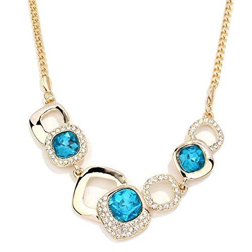 NL-12039C4 Fashion Alloy Europe Diamond Inlaid Crystal Women's Necklace