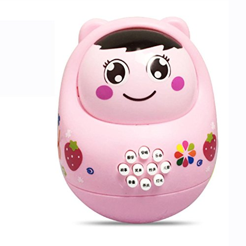 Cute Toy/tilting Toy, WuyiMC LED Music Toy Doll Chime Toys for Toddlers Baby Educational Puzzl Toys with Sound, Small 3.544.33