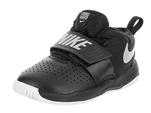 NIKE Toddlers Team Hustle D 8 (TD) Black Metallic Silver White Basketball  Shoe 7 Infants US 9a6ea8bec25b