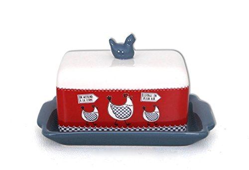 Covered Hen Dish (Ceramic Hen Butter Dish with Cover)