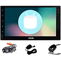 Double Din EinCar Android 6.0 Car Stereo with 7 Full touch screen In Dash Navigation Headunit GPS Vehicle Radio Receiver Support 1080P/Bluetooth/Mirrorlink/External Mic/WiFi with Front & Rear Camera