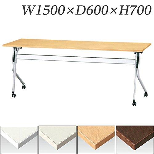 【受注生産品】生興 テーブル STR型スタックテーブル W1500×D600×H700 天板ハネ上げ式 平行スタック式 STR-1560 ホワイト B015XOJ2YW ホワイト ホワイト