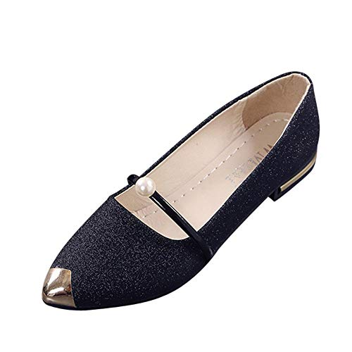 - Xinantime Women's Pointed Toe Comfort Flats Slip On Ballet Dressy Shoes for Women Driving Walking Shoes Black