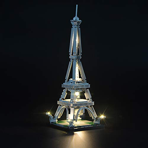 LIGHTAILING Light Set for (Architecture The Eiffel Tower) Building Blocks Model - Led Light kit Compatible with Lego 21019(NOT Included The Model)