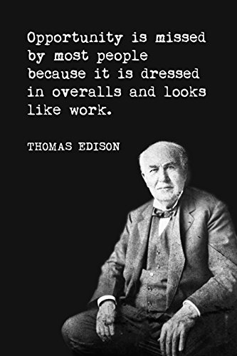 Amazon Opportunity Is Missed By Most People Thomas Edison Cool Thomas Edison Quotes
