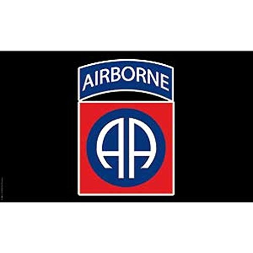 ALBATROS 3 ft x 5 ft Airborne Ranger Black 82nd Premium Flag House Banner Grommet Polyester for Home and Parades, Official Party, All Weather Indoors Outdoors
