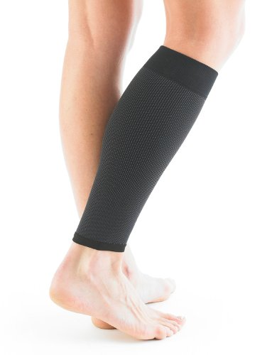 NEO G Airflow Calf/Shin Support - SMALL - Black - Medical Grade Quality sleeve, Multi Zone Compression, lightweight, breathable, HELPS strains, sprains, injured, weak calves/shins - Unisex Brace by Neo-G (Image #4)