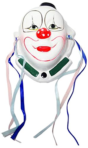 Expressions Plaque - Earthware Clown Mask Wall Plaque