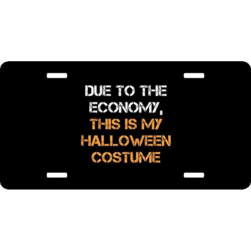 Halloween Costume Due to Economy Personalized Aluminum License Plate Frame Cover Auto Truck Car Front Tag Metal 12 x 6 Inch