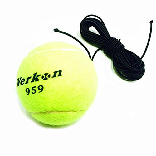 Gonad Training Tennis Ball Sports & Outdoor - Profession Training Tennis Ball Elastic Line Beginner Tennis Exercise Device - Education Testicle Bollock Breeding Clump Clod Glob Testis - 1PCs by Unknown