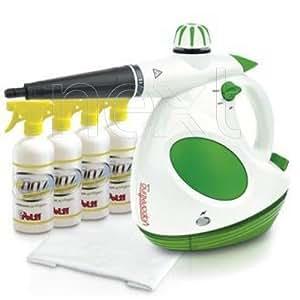 Polti Vaporettino Lux Kit Limpiador a vapor portátil 0.5L 1000W Verde, Color blanco - Vaporeta (Limpiador a vapor portátil, 0,5 L, Verde, Blanco, 1000 W, 3 bar, 345 x 183 x 283 mm)
