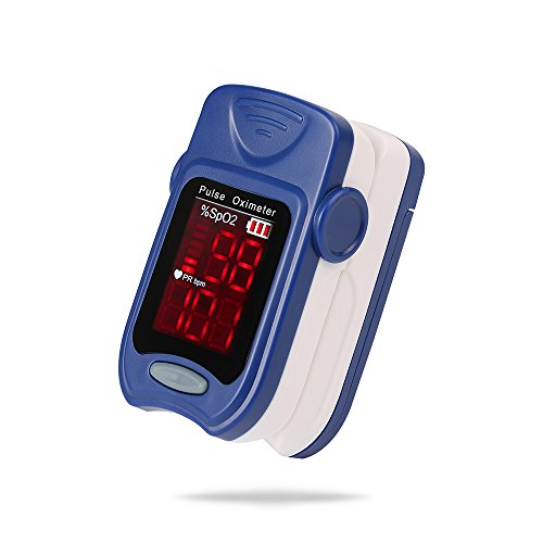Oxygen Monitor FS10A Pulse Oximeter FDA Approved For Kids Adults Seniors Blue by FTRD Industry