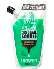 Original Source Body Wash (Pouch), Mint and Tea Tree, 500ml